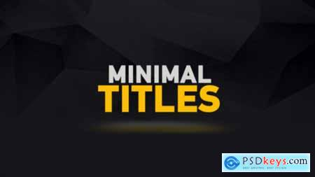 Videohive Minimal Titles Animations 15626612