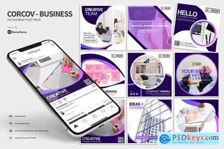 Corcov - Business Instagram Post Pack