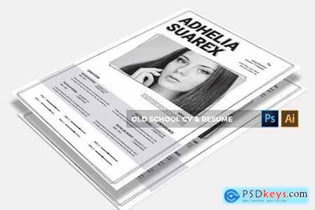 Old School CV & Resume