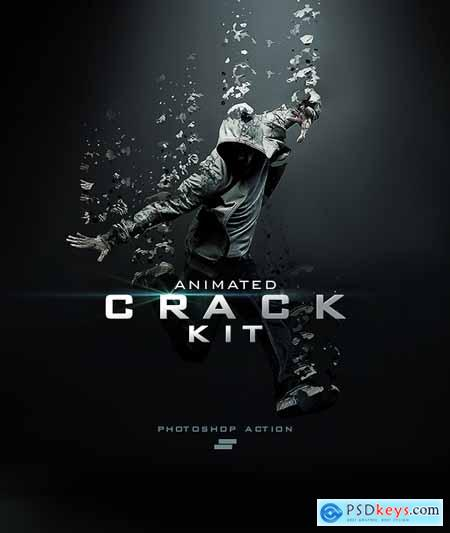 Gif Animated Crack Kit Photoshop Action 18756373