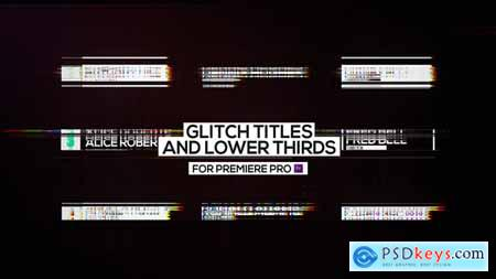 Videohive Glitch Titles and Lower Thirds for Premiere Pro 23312649