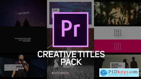 Videohive Creative Titles & Lower Thirds for Premiere Pro 21469007