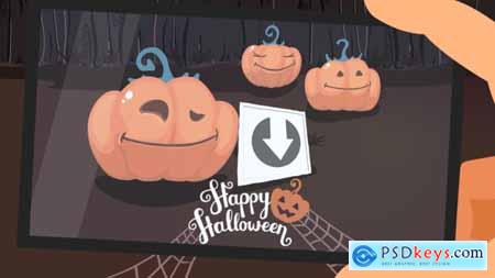 Videohive Funny Pumpkins Halloween Intro 24880135