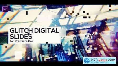 Videohive Glitch Digital Slides for Premiere Pro 23430127