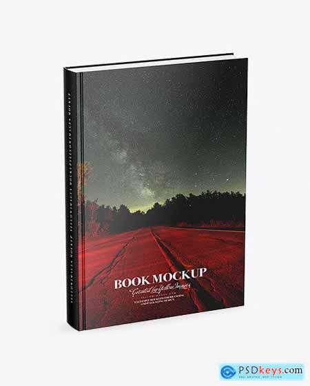 Book w Glossy Cover Mockup - Half Side View 50512