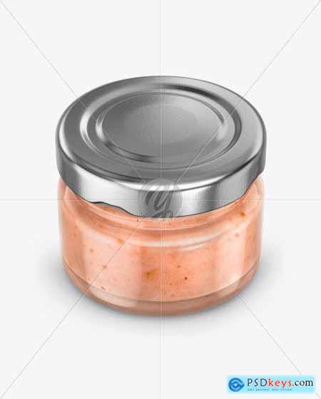 Glass Jar with Creamed Honey Mockup 50509