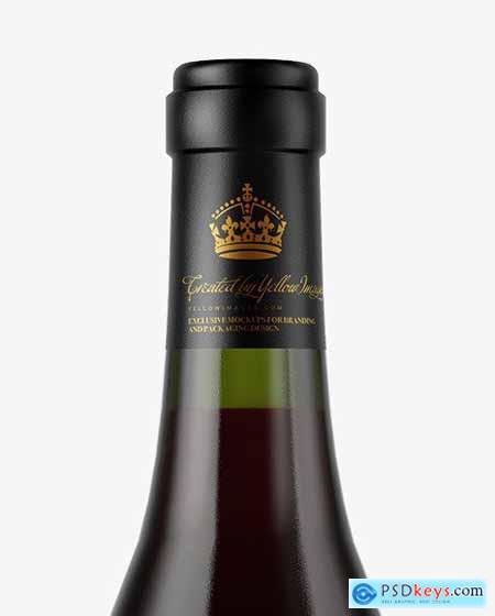 Green Glass Red Wine Bottle Mockup 50516