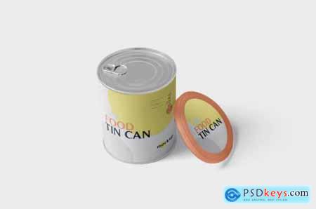 Food Tin Can Mockup Medium Size - Round