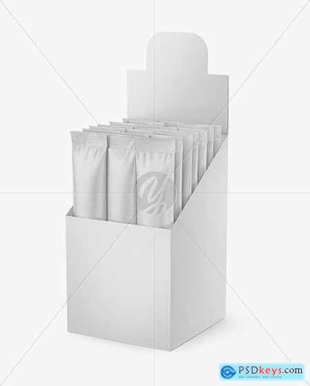 Opened Textured Box w 20 Kraft Sachets 50599