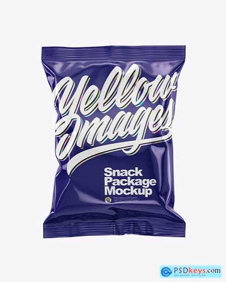 Glossy Snack Package Mockup 50510