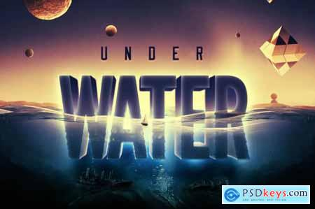 Underwater Text Logo Effect