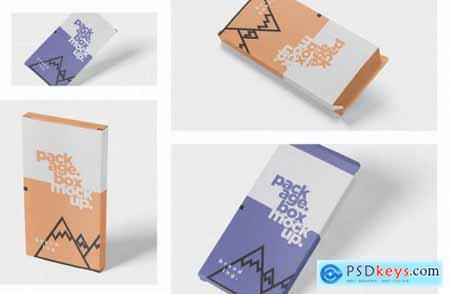 Package Box Mock-Up - Flat Rectangle Shape