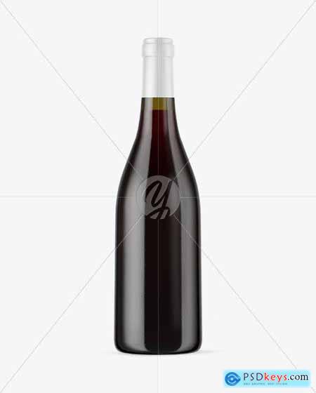 Antique Green Glass Red Wine Bottle Mockup 50580