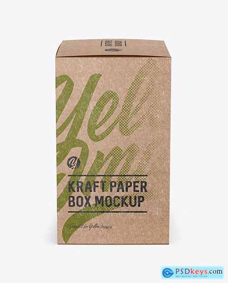 Kraft Paper Box Mockup - Side View 50517