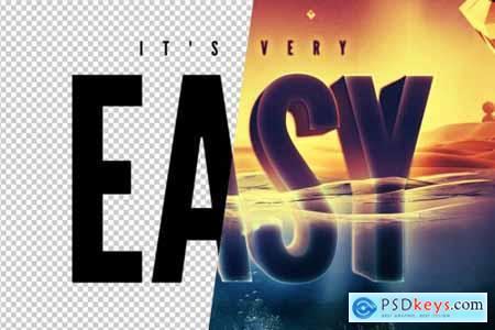 Underwater Text Logo Effect