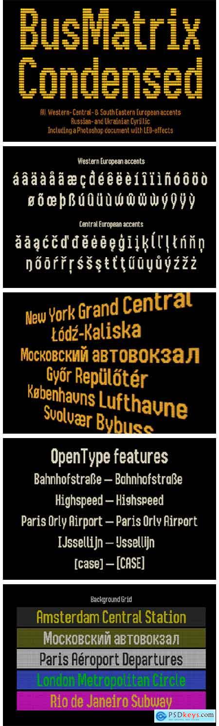 Bus Matrix Font