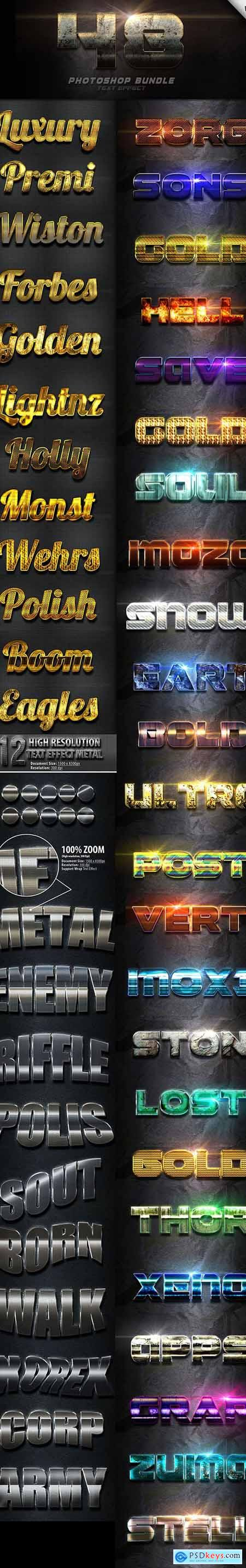 48 Text Effect Bundle Vol 3 24687013