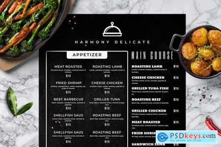 Blackboard Food Menu. 20