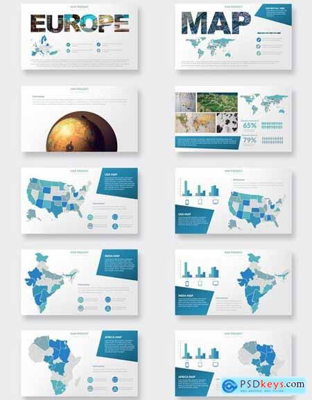 Maps Powerpoint and Keynote Templates