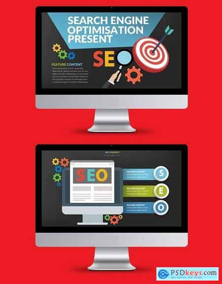 SEO Search Engine Powerpoint and Keynote Templates