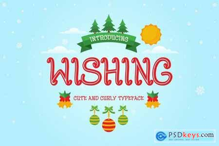 Wishing - Curly Decorative Christmas Font