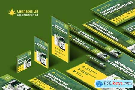 Cannabis Hemp Oil Products Banners Ad
