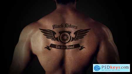 VideoHive Tattoo Logo Reveal 24895246