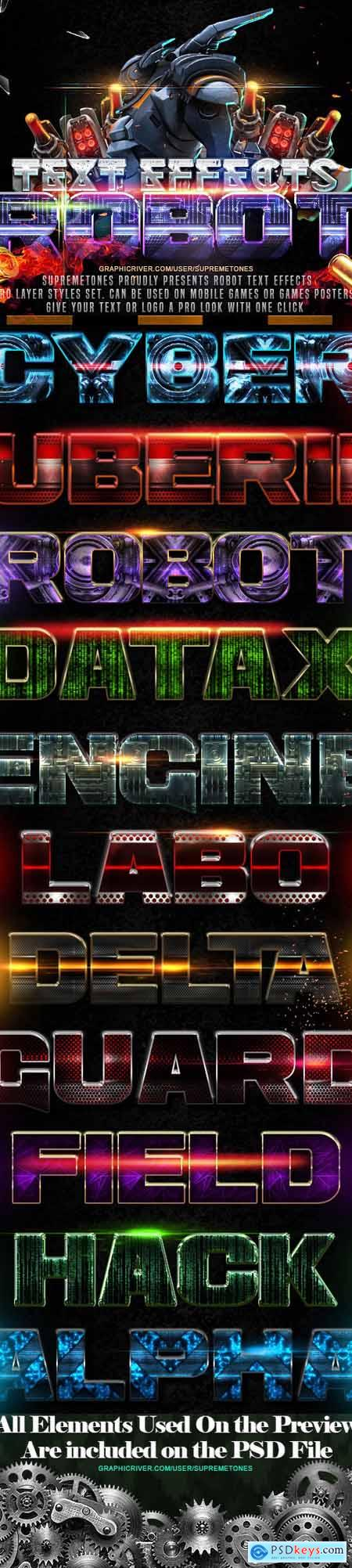 Robot Photoshop Text Effects 24697627