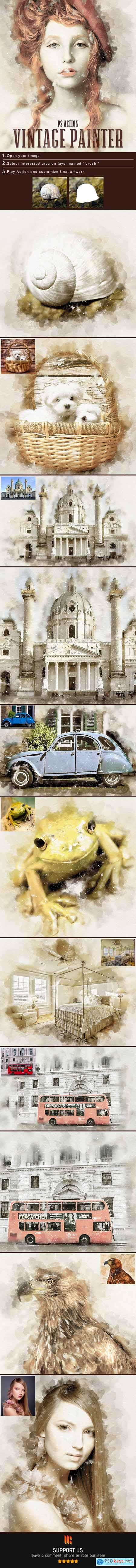 Vintage Painter Photoshop Action 24926944