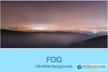 UltraWide City and Fog Backgrounds