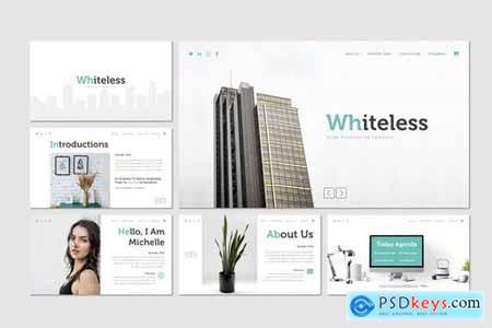 Whiteless - Powerpoint Google Slides and Keynote Templates