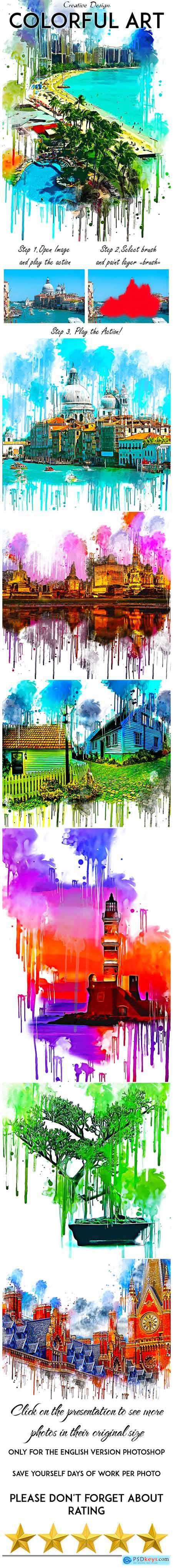 Colorful Art Photoshop Action 24802241
