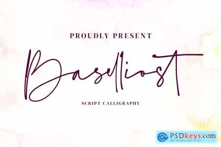 Baselliost handwritten Script font 4230893