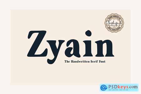 Zyain - The Handwritten Serif Font 4229195