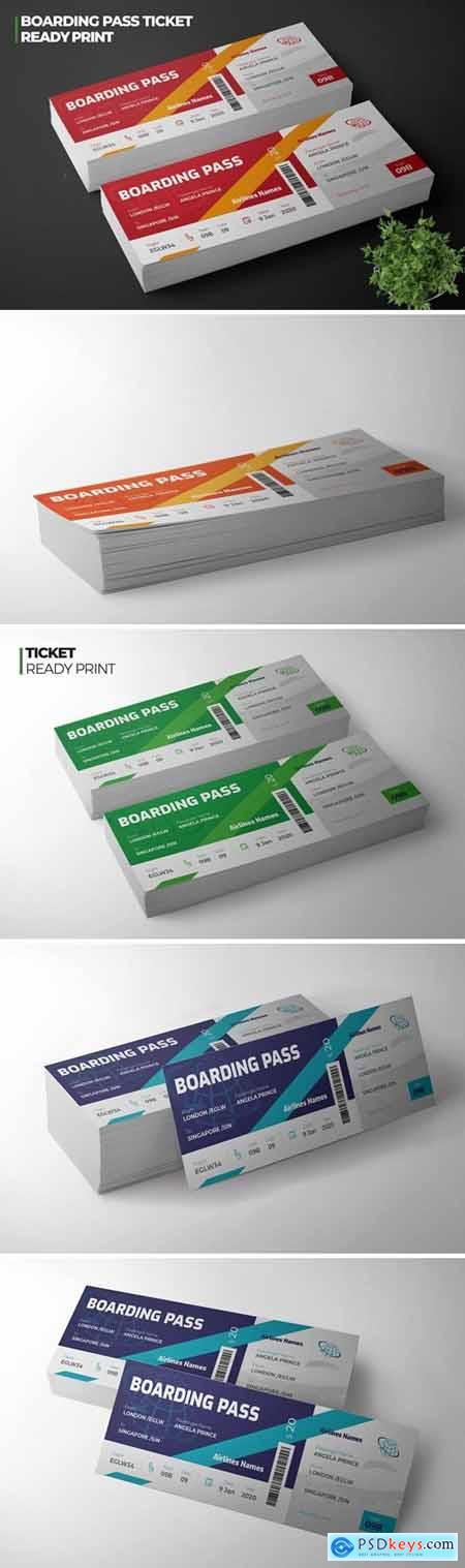 Boarding Pass Airline Ticket