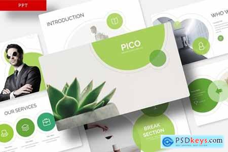 Pico Powerpoint, Keynote and Google Slides Templates