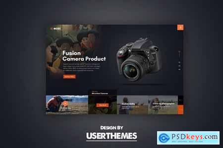 Website Featured Exploration Design Template