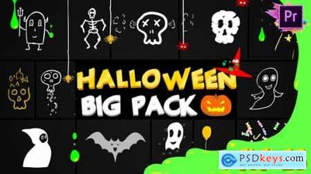Videohive Halloween Party Elements And Titles Premiere Pro MoGRT 24931411