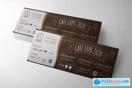 Cafe Event Ticket