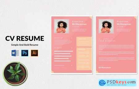 CV Resume Modern And Simple