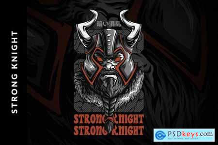 Strong Knight T-Shirt Design