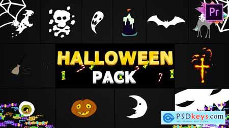 Videohive Halloween Elements Premiere Pro MoGRT 24946170