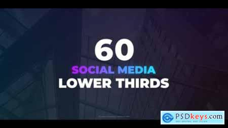 Videohive 60 Social Media Lower Thirds 24954863