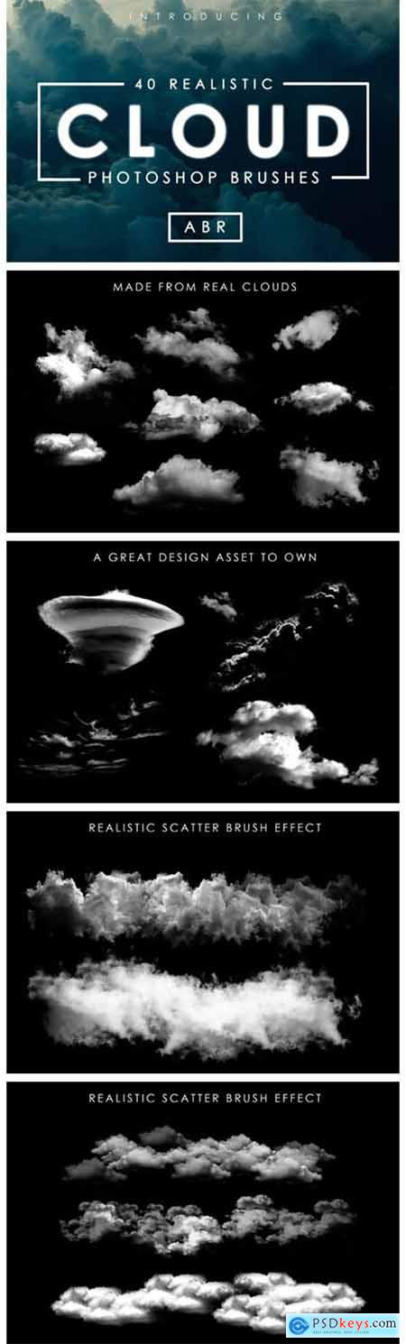 40 Cloud Brushes for Photoshop 1956494