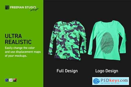 Longsleeve T-Shirt Mock-Up Set 4217959