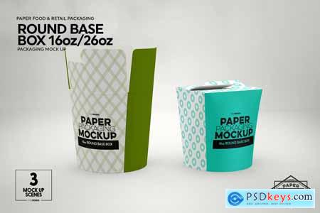 Paper Round Base Box 1626oz Mockups 4250606