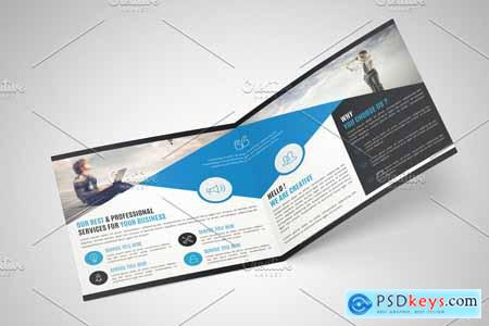 Square Bifold Brochure Template 4241541