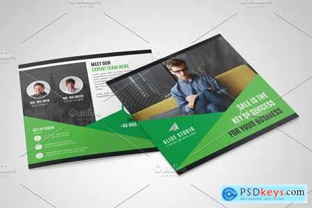 Square Bifold Brochure Template 4241541