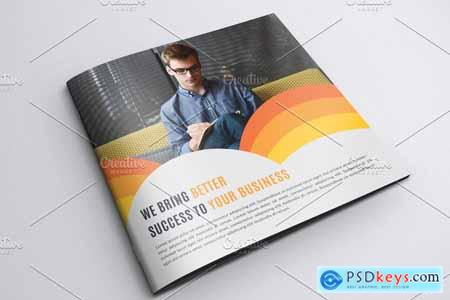 Square Bifold Brochure Template 4241573