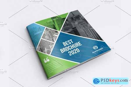 Square Bifold Brochure Template 4242363
